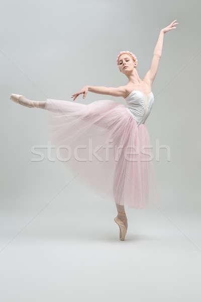 Blonde ballerina in studio Stock photo © bezikus