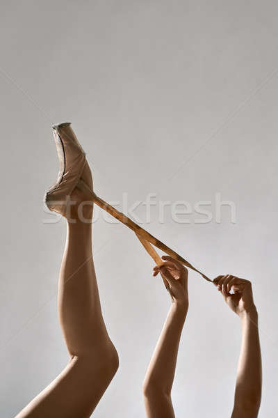 Balletdanser poseren studio been armen ballerina Stockfoto © bezikus
