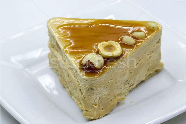Yaourt gâteau plaque blanche Photo stock © bezikus
