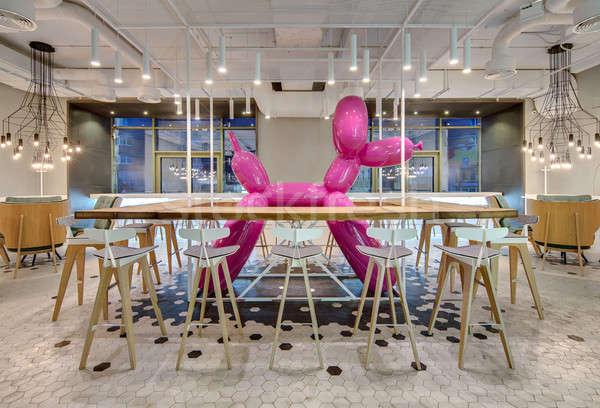 Restaurant vliering stijl cafe licht muren Stockfoto © bezikus