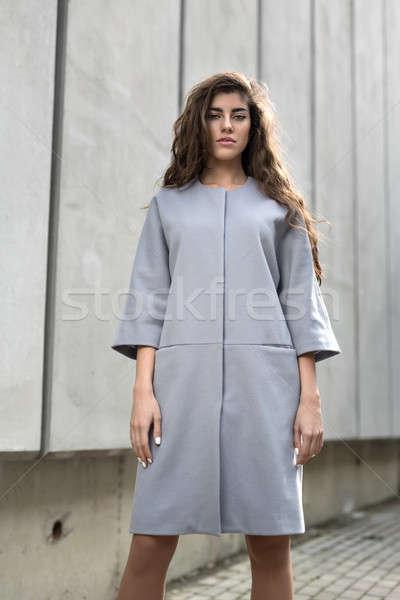 Girl in the gray jacket Stock photo © bezikus
