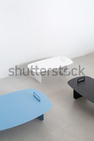 Veelkleurig klein metaal drie grijs vloer Stockfoto © bezikus