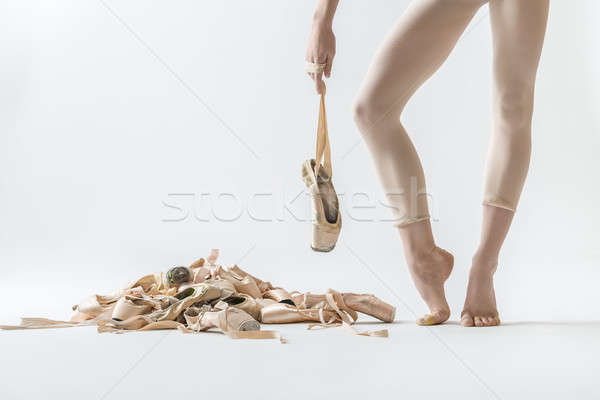 Stockfoto: Balletdanser · benen · schoenen · ballerina · tenen · schoen