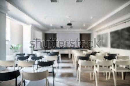 現代 会議 ホール ぼやけた 写真 白 ストックフォト © bezikus