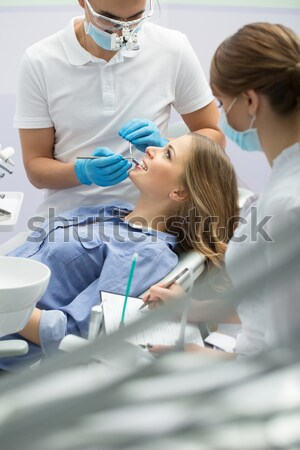 Patient in dentistry Stock photo © bezikus