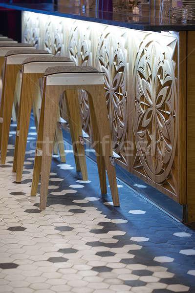 кафе несколько Бар стойку современных Сток-фото © bezikus