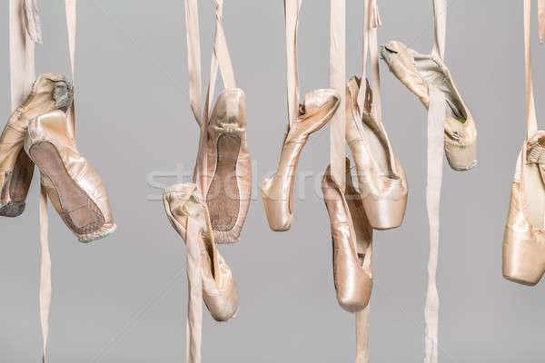 Hanging ballet shoes Stock photo © bezikus
