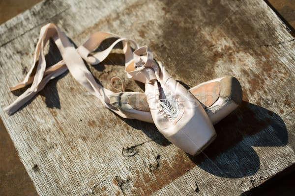 Old ballet pointe shoes Stock photo © bezikus