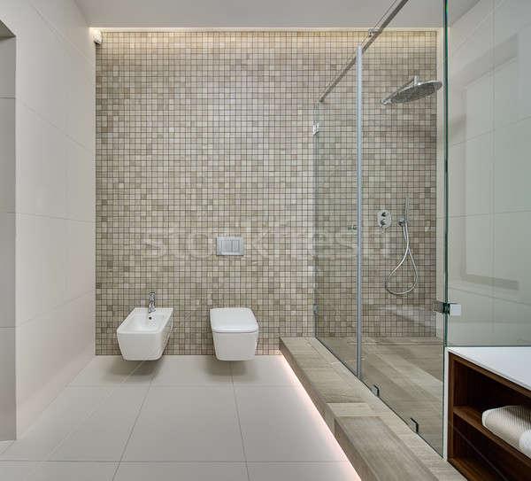 Modern shower room Stock photo © bezikus