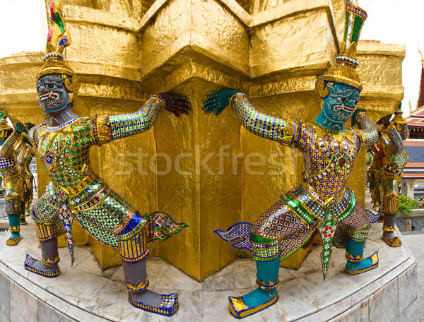 Palais Bangkok couleur architecture asian statue Photo stock © bezikus