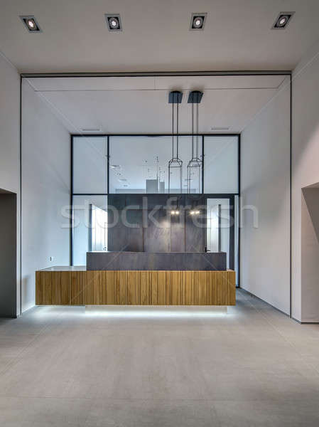 Kantoor vliering stijl interieur grijs Stockfoto © bezikus