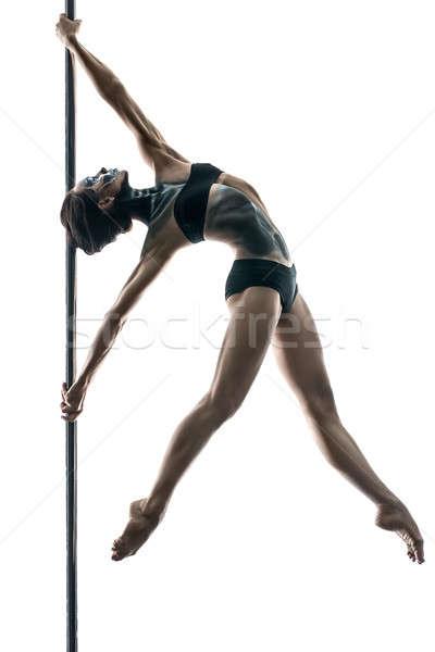 Photo stock: Homme · pôle · danseur · mince · bras