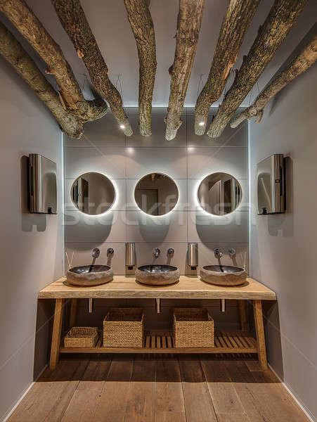 Restroom in modern restaurant Stock photo © bezikus