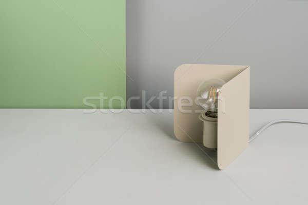 Metal beige edison lamp Stock photo © bezikus