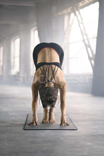 Sportive girl yoga training Stock photo © bezikus