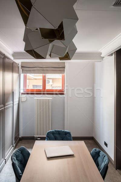 Modern tárgyalóterem kicsi fehér falak szürke Stock fotó © bezikus