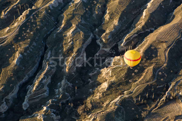 Air balloon above the valley Stock photo © bezikus