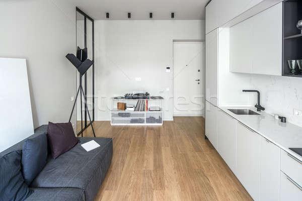 Kitchen in modern style with light walls Stock photo © bezikus