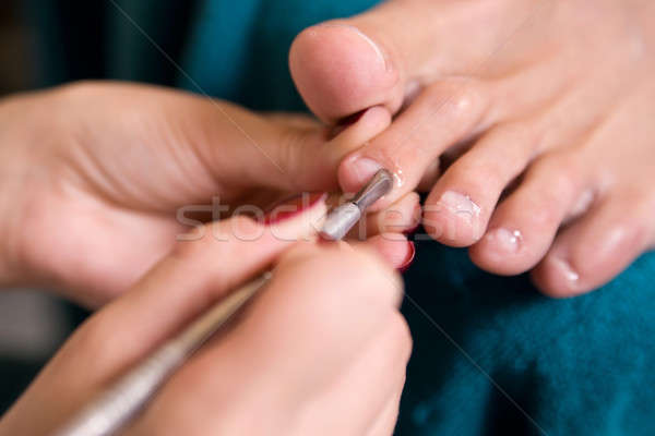 Człowiek procedura pedicure strony charakter zdrowia Zdjęcia stock © bezikus