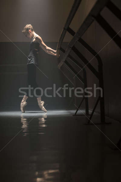 Bailarina negro cute jóvenes bailarín tomados de las manos Foto stock © bezikus