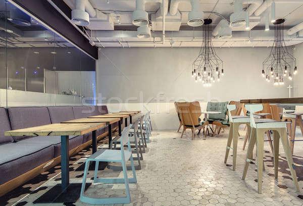 Restauracji strych stylu sali Kafejka świetle Zdjęcia stock © bezikus