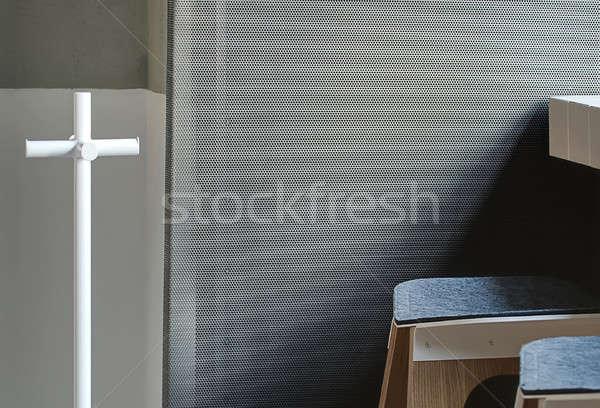 Foto hanger witte houten grijs Stockfoto © bezikus