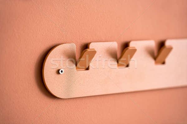 Metal orange hanger Stock photo © bezikus