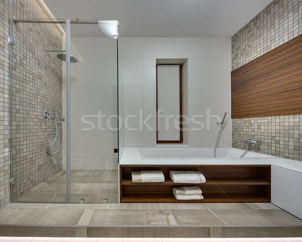 Bathroom in a modern style Stock photo © bezikus