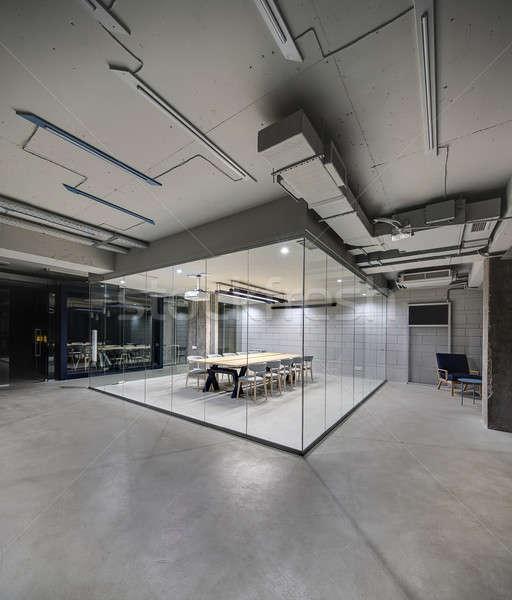 Interieur vliering stijl kantoor lampen Stockfoto © bezikus