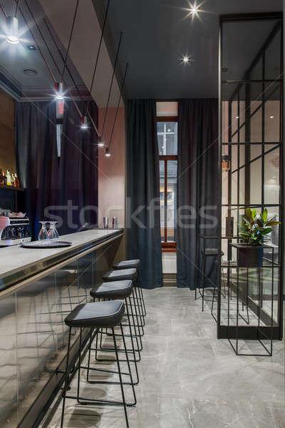 Stylish bar in hotel Stock photo © bezikus