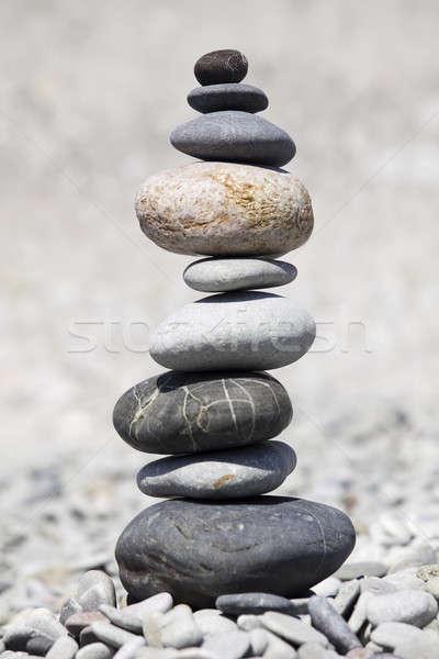 Rocks stacked on the beach Stock photo © bezikus