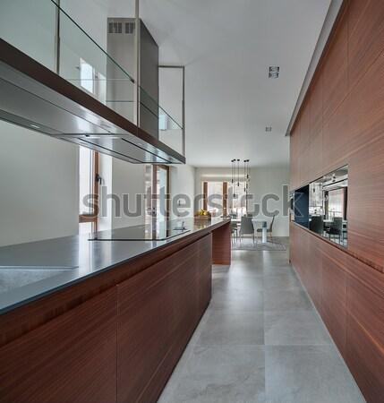 Keuken vliering stijl witte muren Stockfoto © bezikus