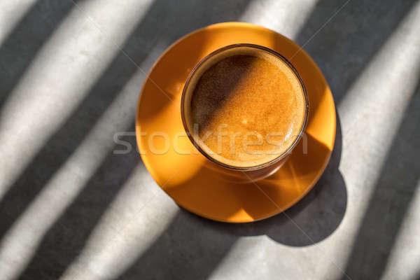 ドリンク ガラス ソーサー おいしい オレンジ 表 ストックフォト © bezikus