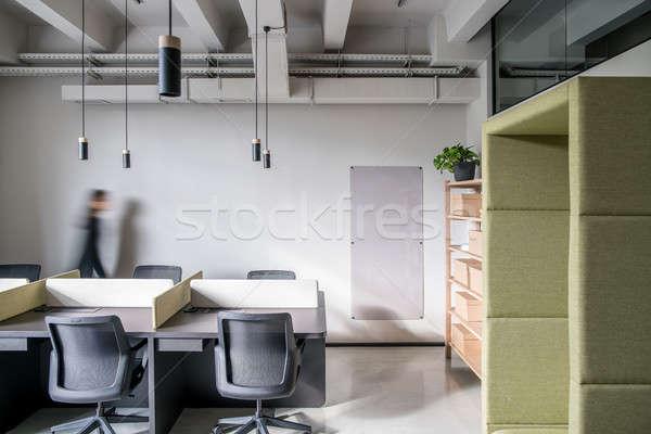 Elegancki biuro strych stylu szary ściany Zdjęcia stock © bezikus