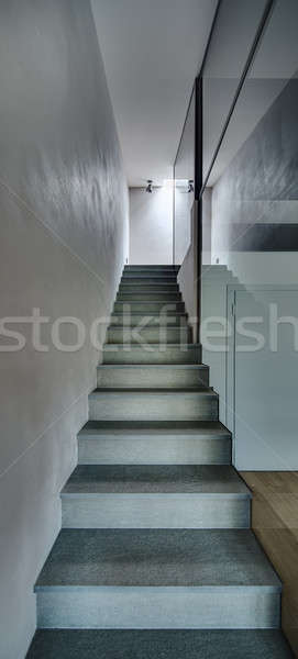 Narrow stair in the modern interior Stock photo © bezikus