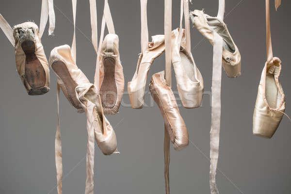 Ballet shoes pointe isolated Stock photo © bezikus