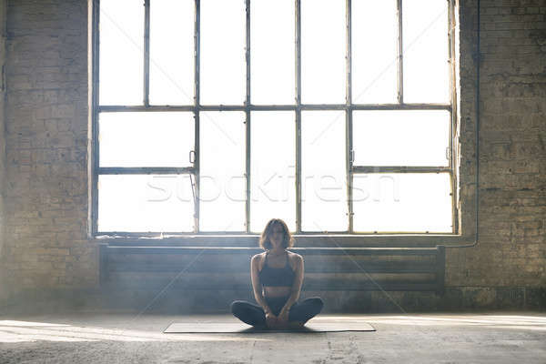 Sportive girl yoga training Stock photo © bezikus