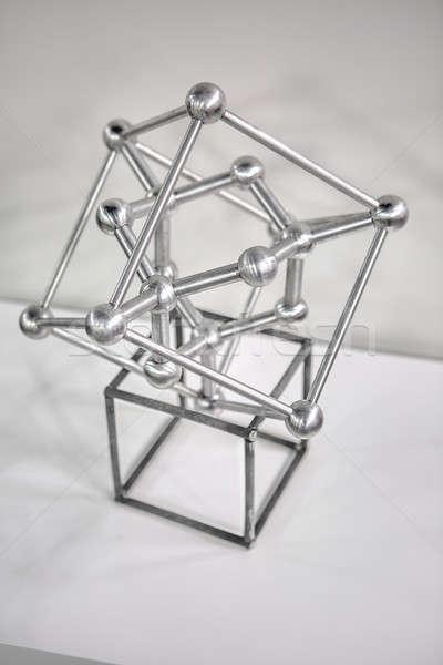 Atomo modello decorazione metallico bianco primo piano Foto d'archivio © bezikus