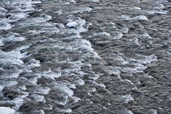 Icelandic landscape with rough river Stock photo © bezikus