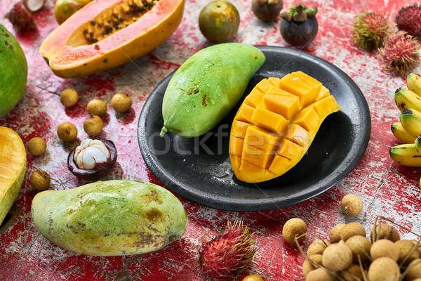 красочный экзотический фрукты сочный Сток-фото © bezikus