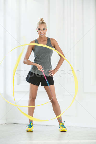 Rhythmic gymnast Stock photo © bezikus