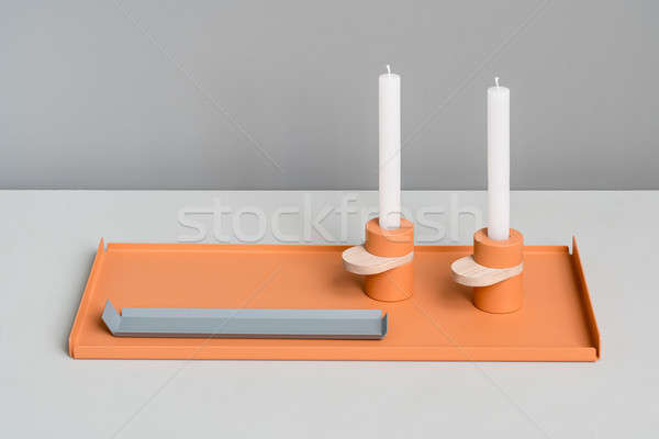 Metal colorful supports and candlesticks Stock photo © bezikus