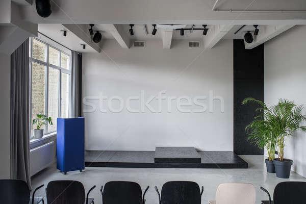 Zdjęcia stock: Elegancki · wnętrza · strych · stylu · szary · ściany