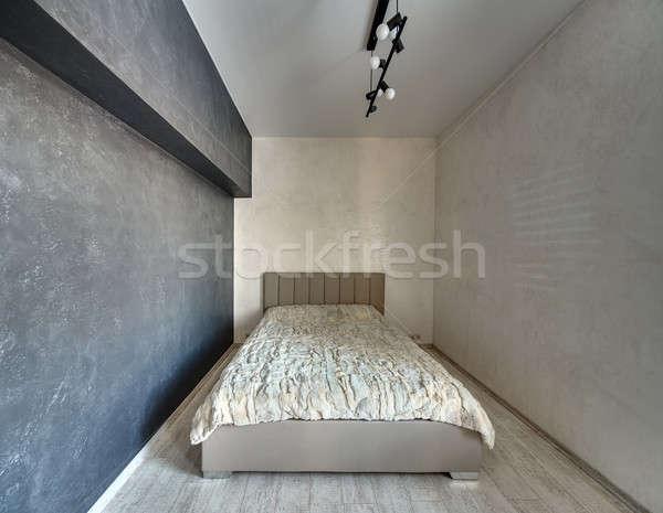Camera da letto stile moderno luce buio muri Foto d'archivio © bezikus