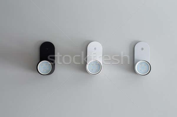 Three lamps on ceiling Stock photo © bezikus