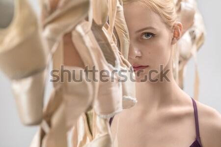 Ballet dancer and pointe shoes Stock photo © bezikus