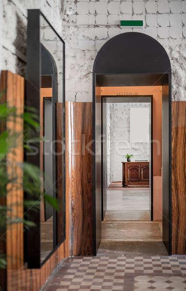 étterem padlás stílus előcsarnok rongyos fehér Stock fotó © bezikus