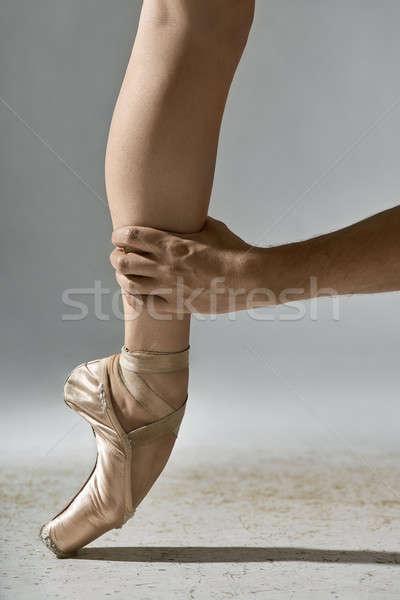 男 脚 男性 手 グレー ストックフォト © bezikus