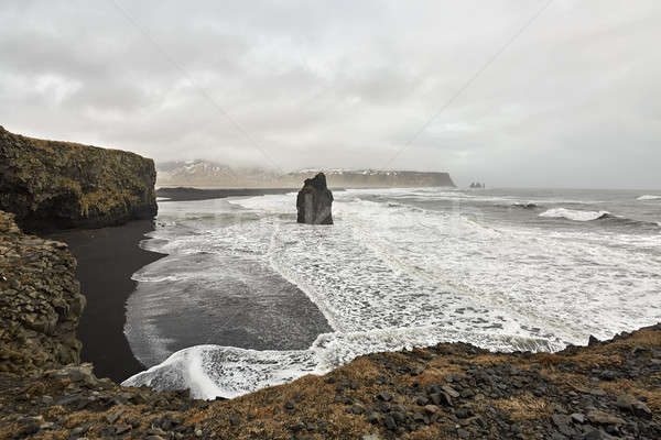 Icelandic landscape of seashore Stock photo © bezikus