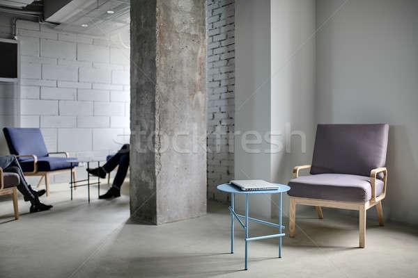 Interieur vliering stijl kantoor beton kolom Stockfoto © bezikus
